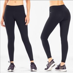Fabletics Mid-Rise PowerHold Legging Black Sz L